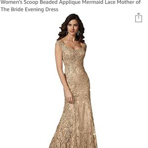 Mother of the Bride gold dress